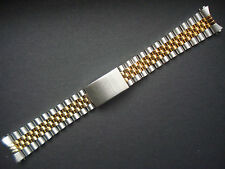 20MM SOLID LINK PLATED 2-TONE JUBILEE BAND BRACELET FOR ROLEX MEN DATEJUST WATCH