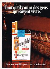 PUBLICITE  1972   CHESTERFIELD   cigarettes