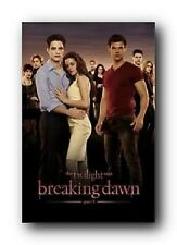 TWILIGHT SAGA BREAKING DAWN CAST BELLA EDWARD JACOB NEW POSTER 22x34 FREE SHIP
