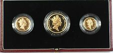 1987 United Kingdom 3 Coin Gold Proof Set in Presentation Case with COA