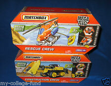 MATCHBOX MEGA RIG BUILDING SYSTEM CONSTRUCTION & RESCUE CREW NEW