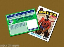 Wayne Thomas - Wales All Stars - Custom Hockey Card  - 1975-76