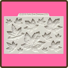 Katy Sue Designs MAPLE LEAVES CE0051 Cake Crafting Mould 12 Different Leaves