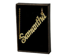 "Name Necklace ""SAMANTHA"" - 18ct Gold Plated - Anniversary Gifts For Her identity"
