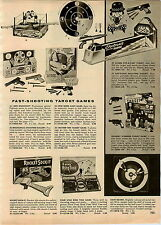 1957 PAPER AD Toy Electronic Shooting Range Dragnet Target Poosh M Up Hockey