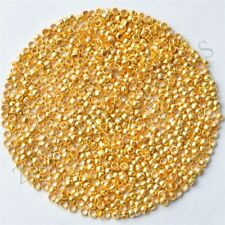 Lots 1000 Pcs Gold Plated Round Spacer Loose Charms Setting Beads 2 mm Jewelry