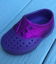 New Childs Native Miller Glitter Orchid Purple Water Shoes C 6/UK 5/EUR 22