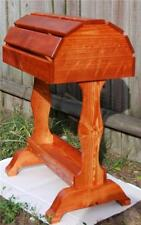 Classic Wooden Saddle Stand  / Traditional Cherry Stain w/satin finish