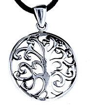 Nr. 87: Lebensbaum 925 Silber Anhänger Yggdrasil Weltesche Lebens Baum mit Band