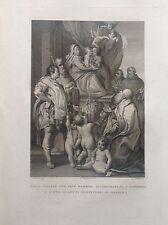 F. ROSASPINA MARIA VERGINE GESU' SANTI PROTETTORI DI  BOLOGNA acquaforte 1830