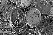 Ten Guardian Angel Italian Catholic Medals + Holy Cards - FREE SHIPPING in USA