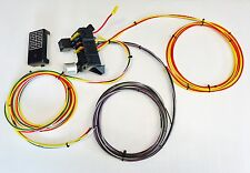 10 CIRCUIT 8 FUSE UNIVERSAL WIRING HARNESS RACE RAT ROD w- US MADE GXL QUALITY!