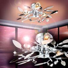 Lámpara de techo araña diseño floral negro y claro dormitorio salón sala 130215