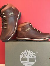 TIMBERLANDS MENS EURO SPRINT Hiker BOOTS BROWN size Uk 8 BRAND NEW WITH BOX
