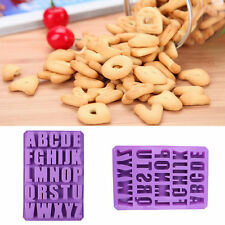 Silicone Letter Alphabet Pudding Bakeware Mould Cake Chocolate Ice Maker Mold F5