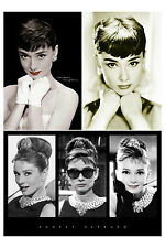 Audrey Hepburn 3 Individual posters Sepia White Gloves Red Lips Triptych Iconic