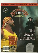 wwf 1991 Survivor Series Offical Program PPV WWE