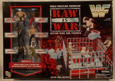 WWE WWF Raw Is War Wrestling Ring Goldust Austin HHH Mankind Steel Cage Match