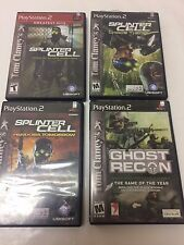 PS2 4 Game Lot: Tom Clancy Splinter Cell (3X) Ghost Recon Playstation 2