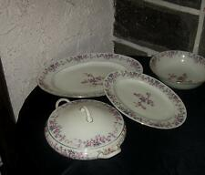 """Antique china lot Czechoslovakia Gorgeous flowers very old marked with a """"V"""" ?"""