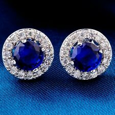 Wonderful White Gold Filled Round Cubic Zircon Ladies Stud Earrings
