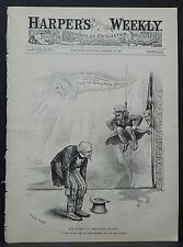 "Harper's Weekly Cover-Page A4#55 Oct. 1888 The Effect of ""Negative Gravity"""
