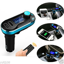 Dual USB Hands-free Wireless Bluetooth FM Transmitter MP3 Play Car Kit Charger