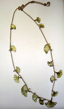SILVER SEASONS BY MICHAEL MICHAUD ⚜ GINGKO LEAVES CHARMS NECKLACE   8319BZ
