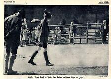 Kaiser Franz Josef in Ischl auf dem Weg zur Jagd Historische Aufnahme von 1911