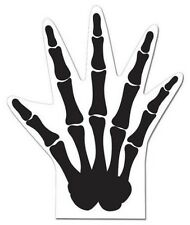 Scary Skeleton Hand Shaped Favor Bags 12 Treat Loot Bag Halloween