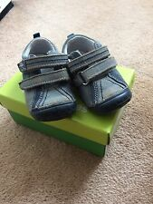 Infant Hush Puppy First Walker Shoes Blue Velcro Uk Size 4G Come with Box