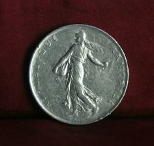 1968 France 1 Franc Nickel World Coin KM925.1 Female Seed Sower Laurel Branch