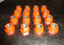 (16)10mm x 1.25 ATV Lug Nuts Orange Powder Coated Honda Yamaha Kawasaki
