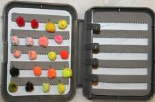 20 Egg Fly selection mixed colours in a FREE FLY BOX FREE POSTAGE FOR CHRISTMAS