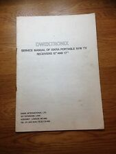 "Dwektronix Iskra 12"" &17""  Portable B/W Television Genuine Service Manual"