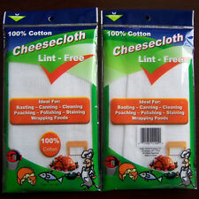2 Yards Cheesecloth White Gauze Fabric Kitchen Cheese Cloth Bleach Cotton NEW