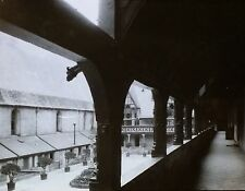 View from Balcony of Hospital in Beaune, France, Magic Lantern Glass Slide