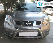 NISSAN X-TRAIL BULL BAR, CHROME AXLE NUDGE A BAR 60mm, 2010+Onwards, S.STEEL NEW