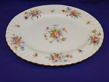 "BEAUTIFUL MINTON CHINA 12 1/2"" MARLOW SERVING PLATTER S-309 MULTI-FLORAL ENGLAND"