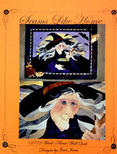 WITCH'S BREW Applique Art Quilt by Seams Like Home witch, brew Halloween bats
