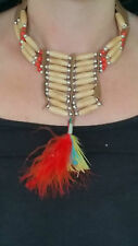 FANCY DRESS NATIVE INDIAN TRIBAL AMERICAN NECKLACE DELUXE ONE SIZE UNISEX BEADS