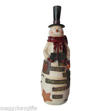 29cm Vintage Style Resin Snowman - Inscribed Believe in the Magic of the Season
