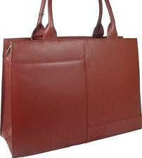 NEW LADIES LARGE ELEGANT VISCONTI RED LEATHER BRIEFCASE WORK BAG FREE UK P&P