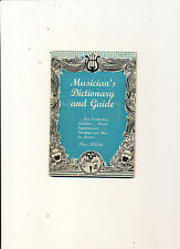 #378 MISC 1947 MUSICIAN  DICTIONARY & GUIDE TO MUSIC LOVERS ETC 66PAGES
