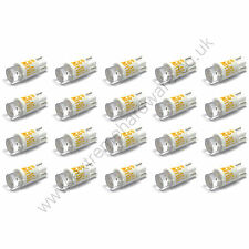 20 x Yellow 12v 10mm T10 Wedge Base LED Bulbs for Arcade Push Buttons - MAME