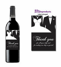 WEDDING DAY THANK YOU FOR YOUR HELP, WINE BOTTLE LABEL GIFT