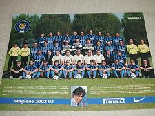 CARTOLINA UFFICIALE CALCIO SQUADRA INTER F.C. INTERNAZIONALE 2002/2003