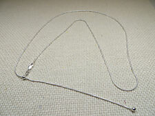 30 inch Adjustable 925 Sterling Silver Snake Chain (#0005)