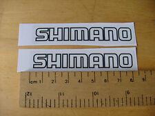 Shimano Nera bici/mtb Decalcomanie Autoadesivo una coppia (t3b) FREEPOST in tutto il mondo