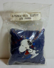 PEANUTS VTG 80's 4'' SNOOPY AIR FRESH BLUE PILLOW UNUSED IN CELLOPHANE